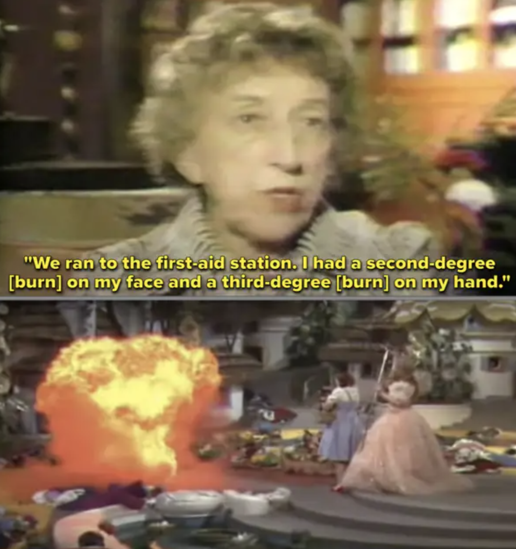 Margaret Hamilton describes the burns she received while filming The Wizard of Oz