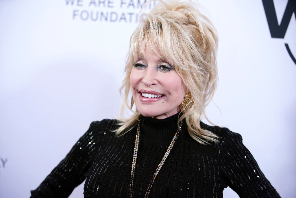 Dolly Parton at the We Are Family Foundation in November 2019