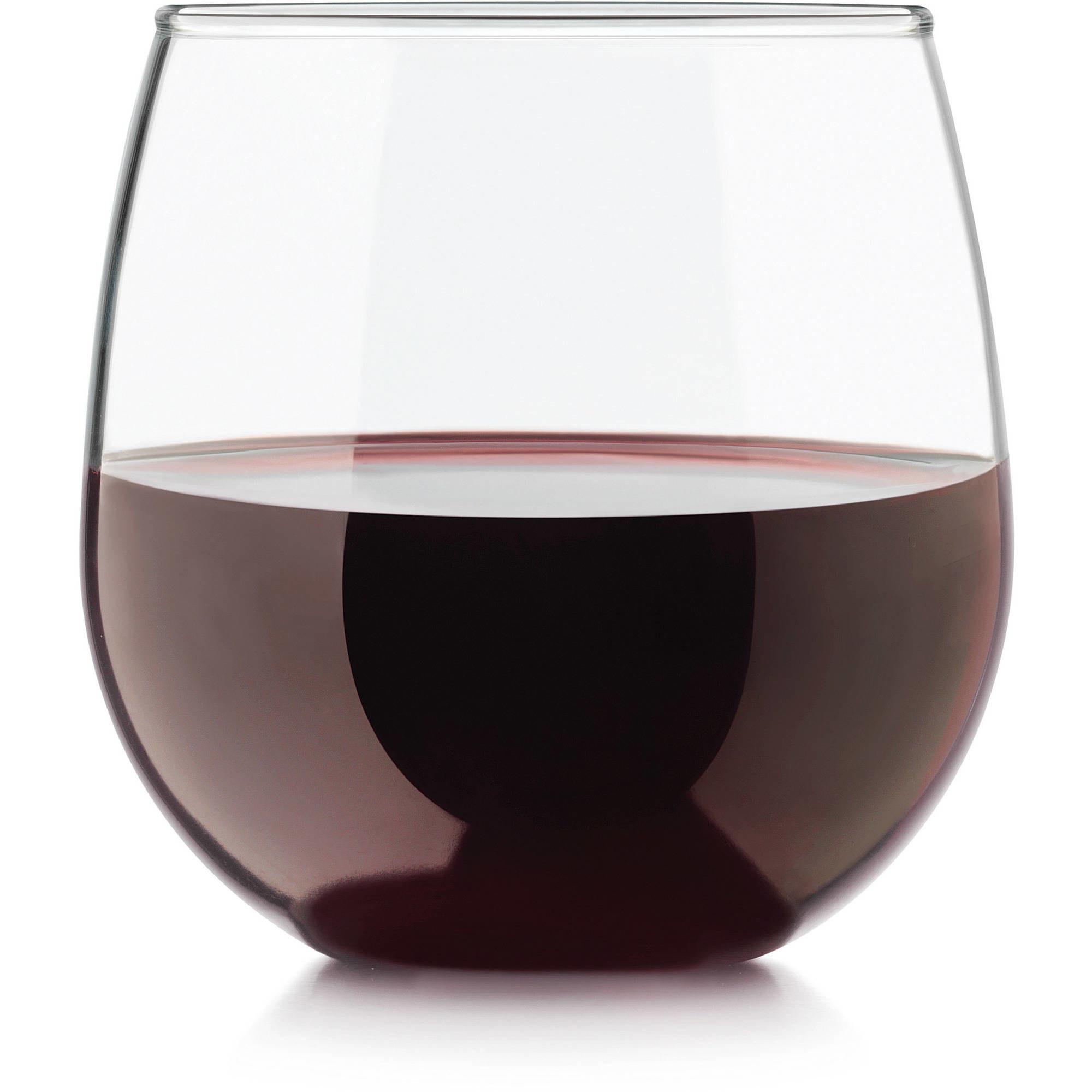 a wine glass with wine inside