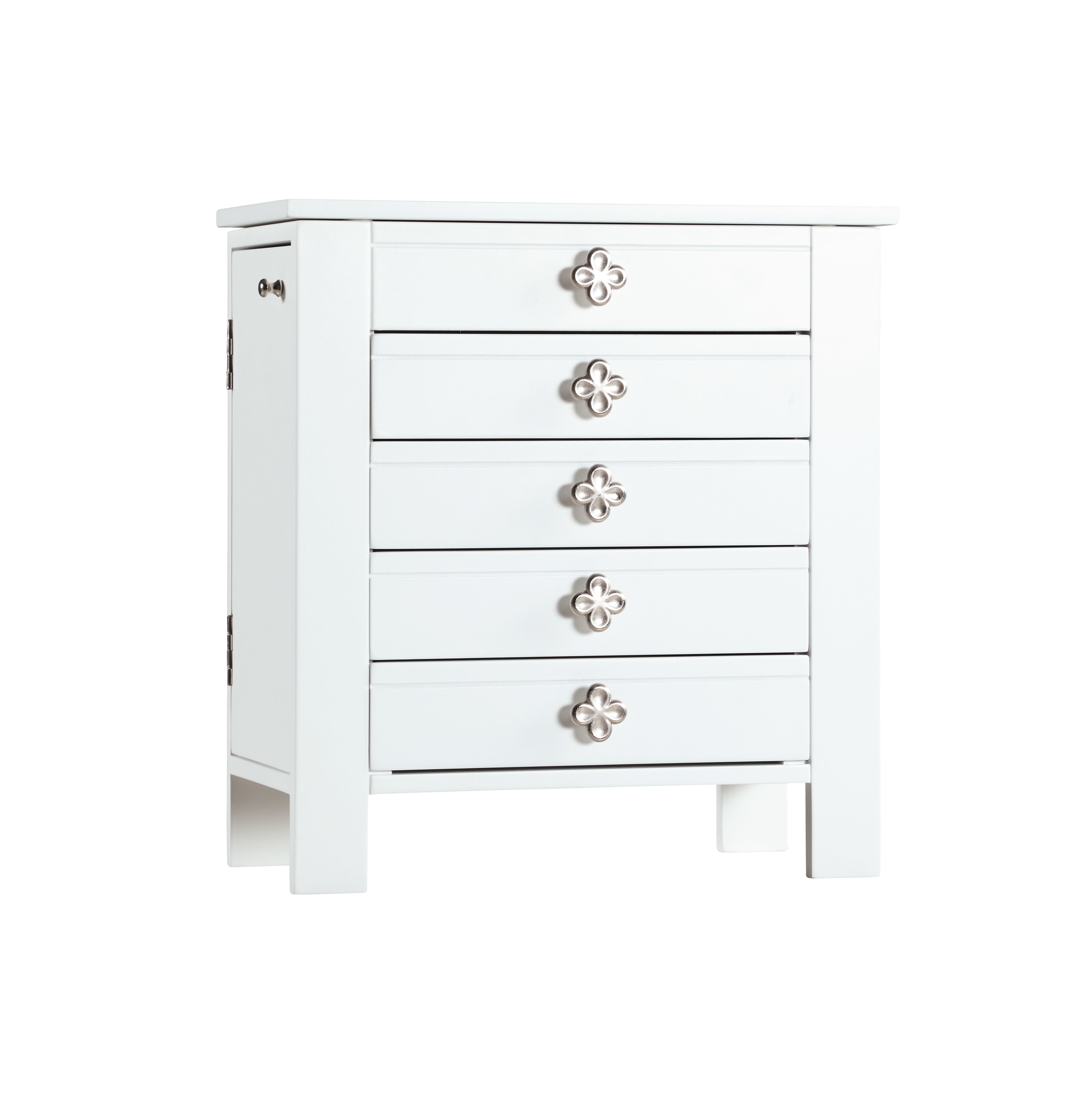 the jewelry box in white