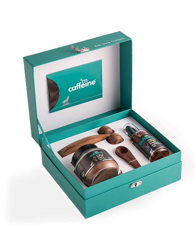 A blue coffee gift set