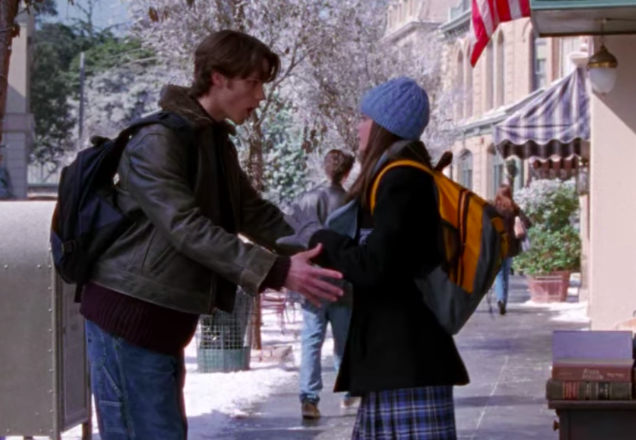 "Rory and Dean bumping into each other on ""Gilmore Girls"""