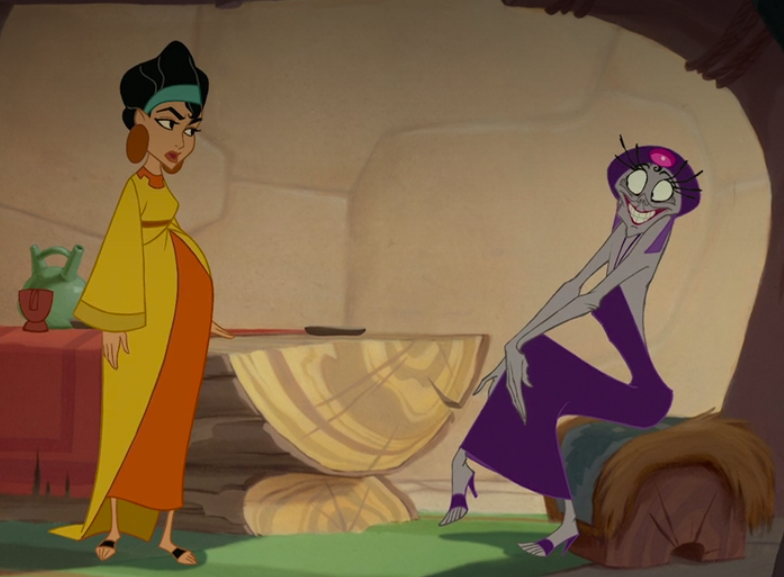 Chicha holds off Yzma so Pacha can help Kuzco escape
