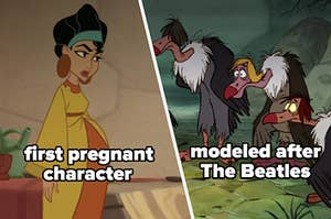 the first pregnant Disney character and others modeled after the Beatles