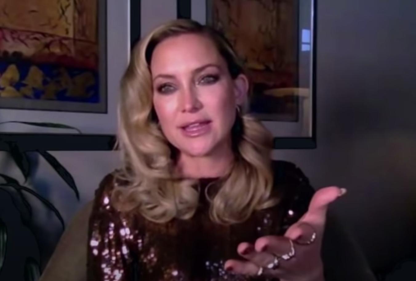 Screenshot of Kate Hudson during interview