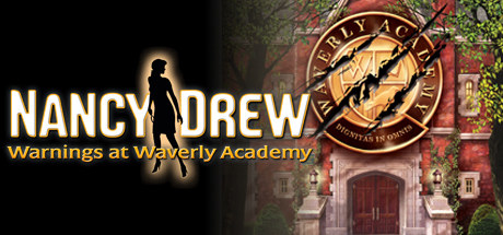 """a gold sign that says """"waverly academy"""""""