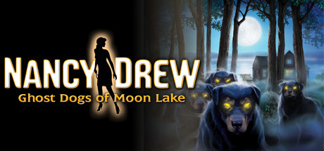 cartoon dogs with glowing eyes stand in a forest at night