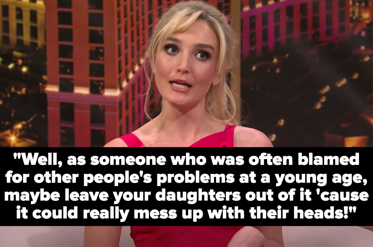"""""""Britney"""" says, """"Well, as someone who was often blamed for other people's problems at a young age, maybe leave your daughters out of it 'cause it could really mess with their heads!"""""""