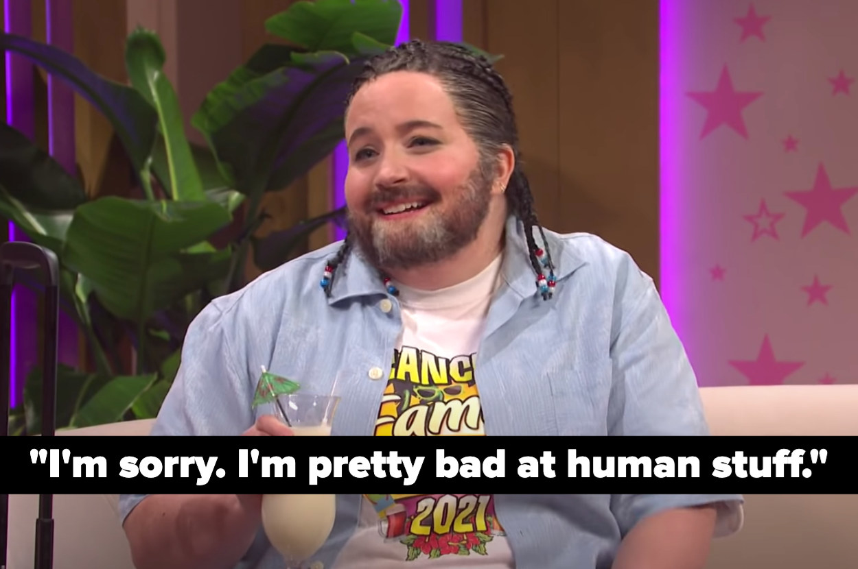 "Ted says ""I'm sorry. I'm pretty bad at human stuff"""
