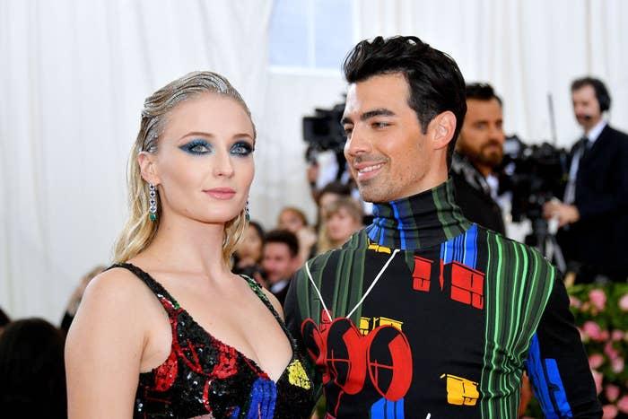 Sophie and Joe at the Met Gala