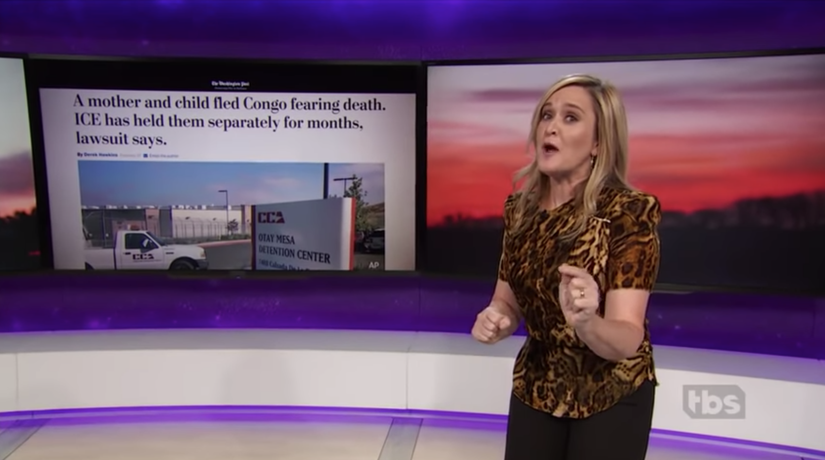 Samantha Bee on her show, criticizing Ivanka Trump