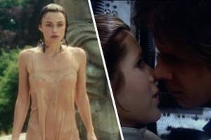 """Keira Knightley in Atonement side-by-side with Carrie Fisher and Harrison Ford in """"Empire Strikes Back"""""""