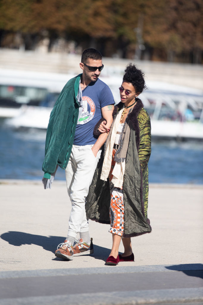 Shia LaBeouf and FKA Twigs are spotted on the Seine river in Paris, France in 2018