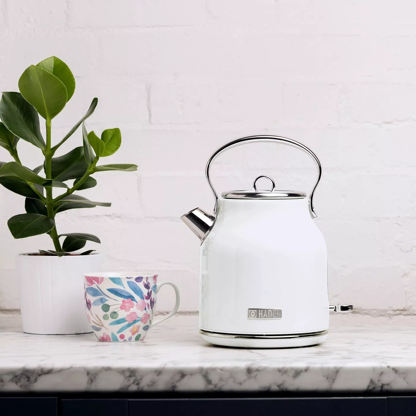 The white Haden electric kettle