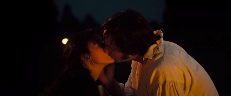 Elizabeth and Darcy kissing