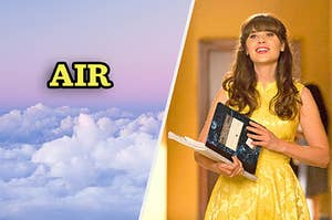 Jess from New Girl teaching being the element of air