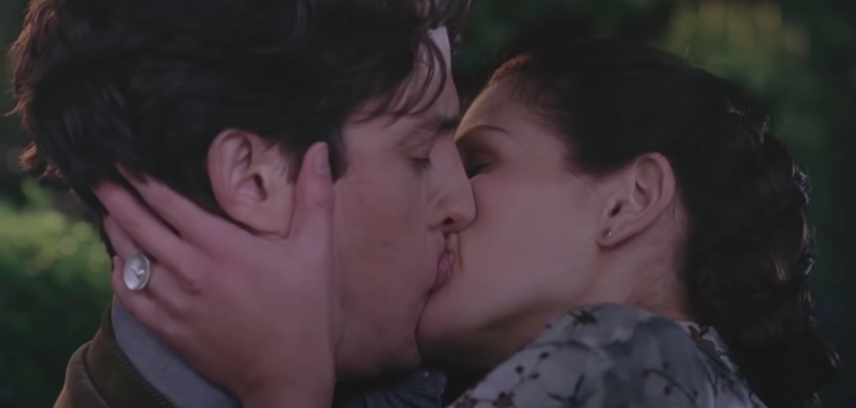 William and Anna kissing