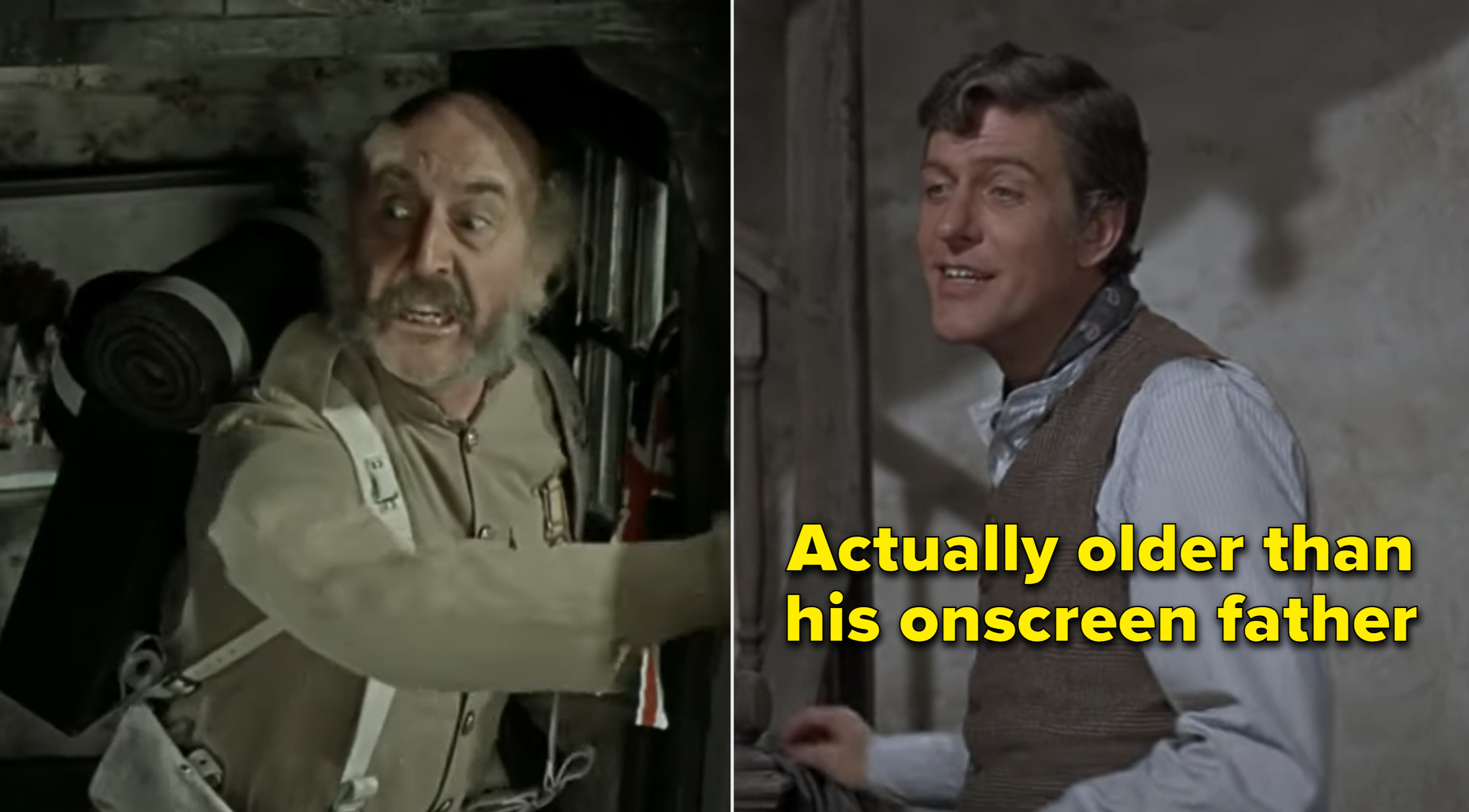 "Dick Van Dyke and Lionel Jeffries in ""Chitty Chitty Bang Bang"""