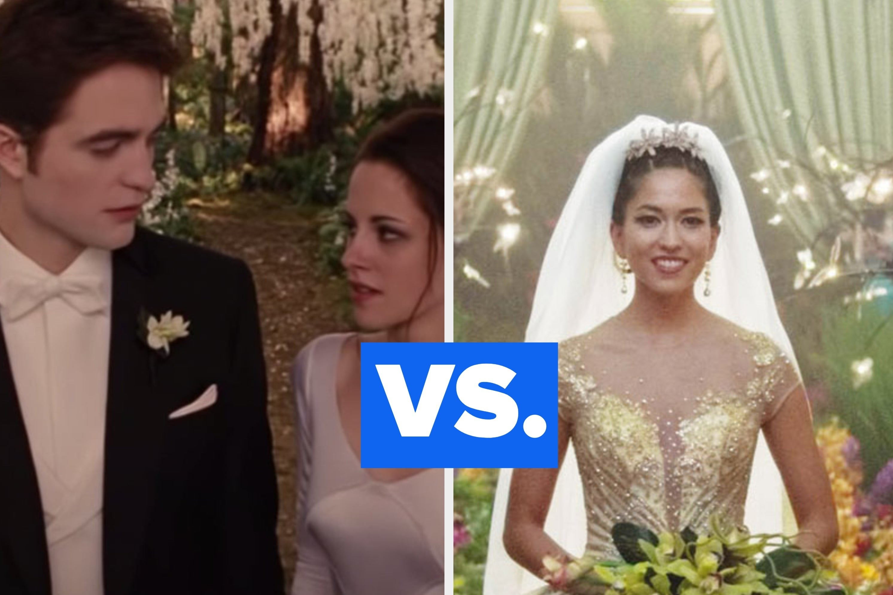 "Bella and Edward getting married in ""Twilight"" vs. the extravagant wedding in ""Crazy Rich Asians"""