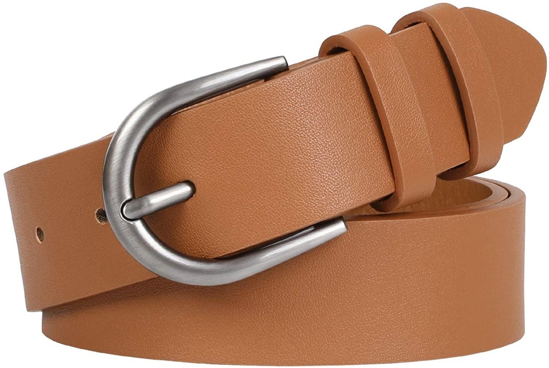 The belt in brown