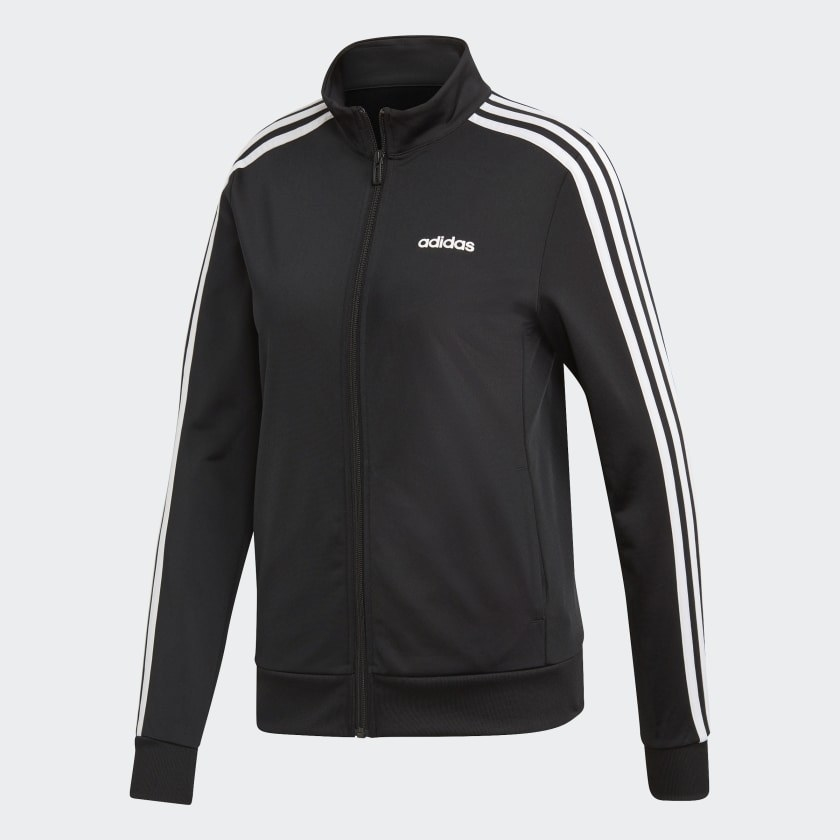 Adidas track jacket in black and white