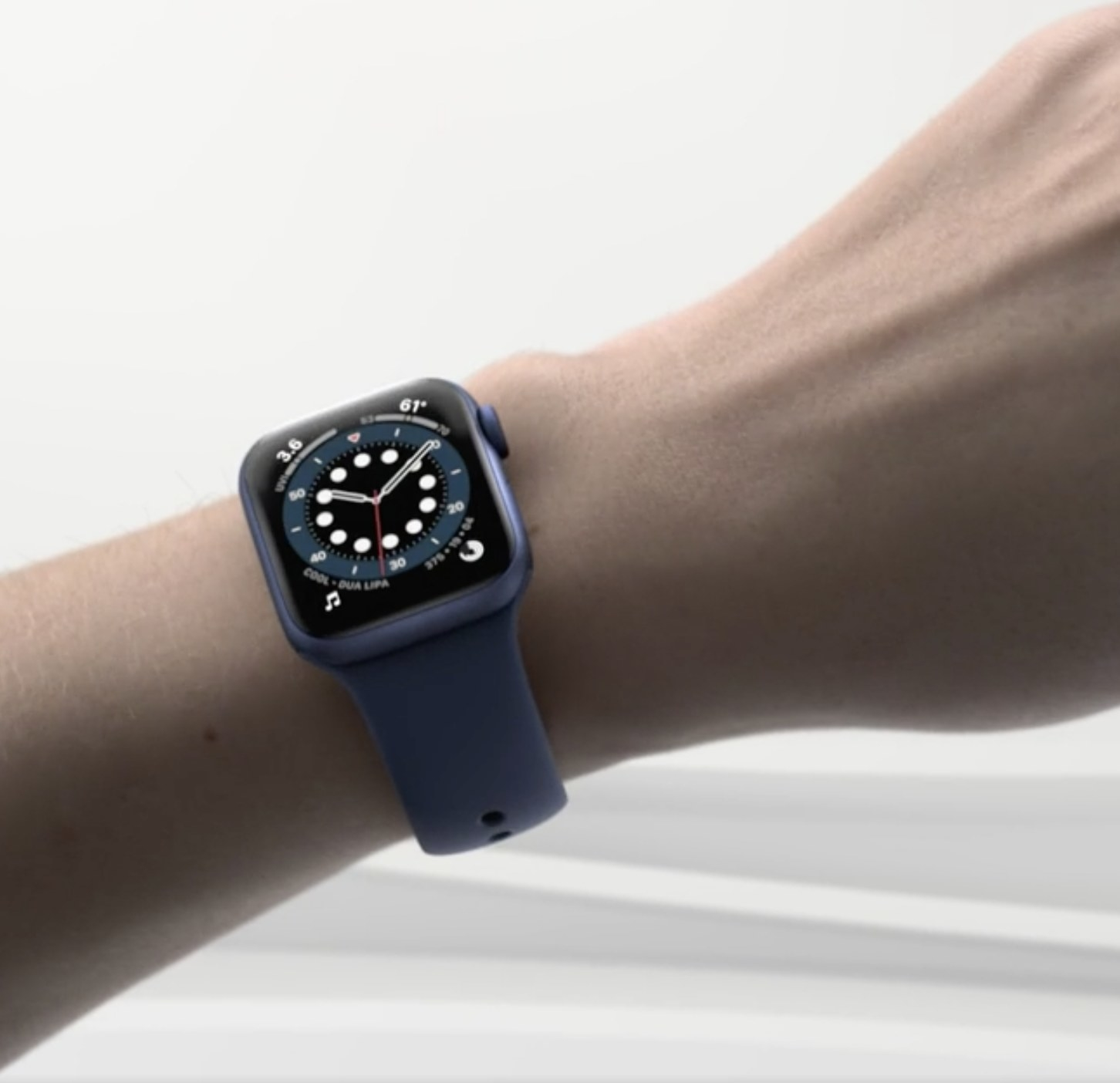 The Apple Watch on a wrist