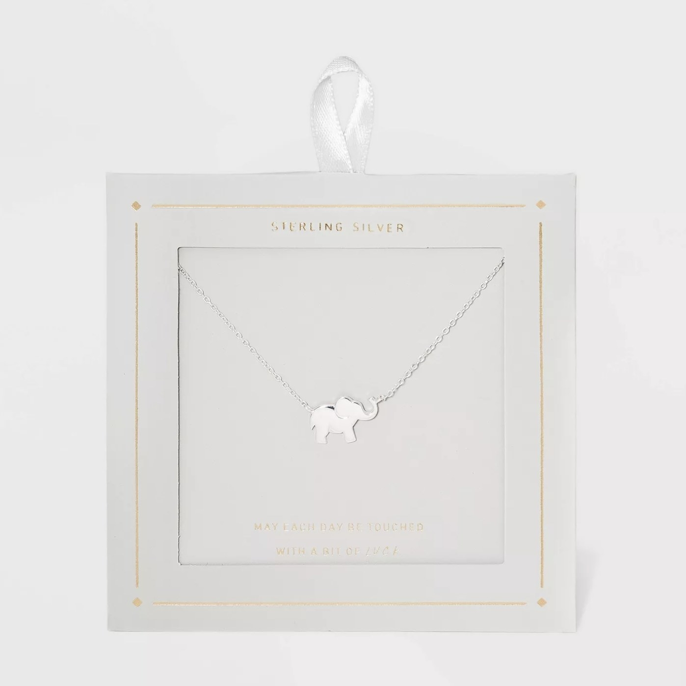 The silver elephant necklace