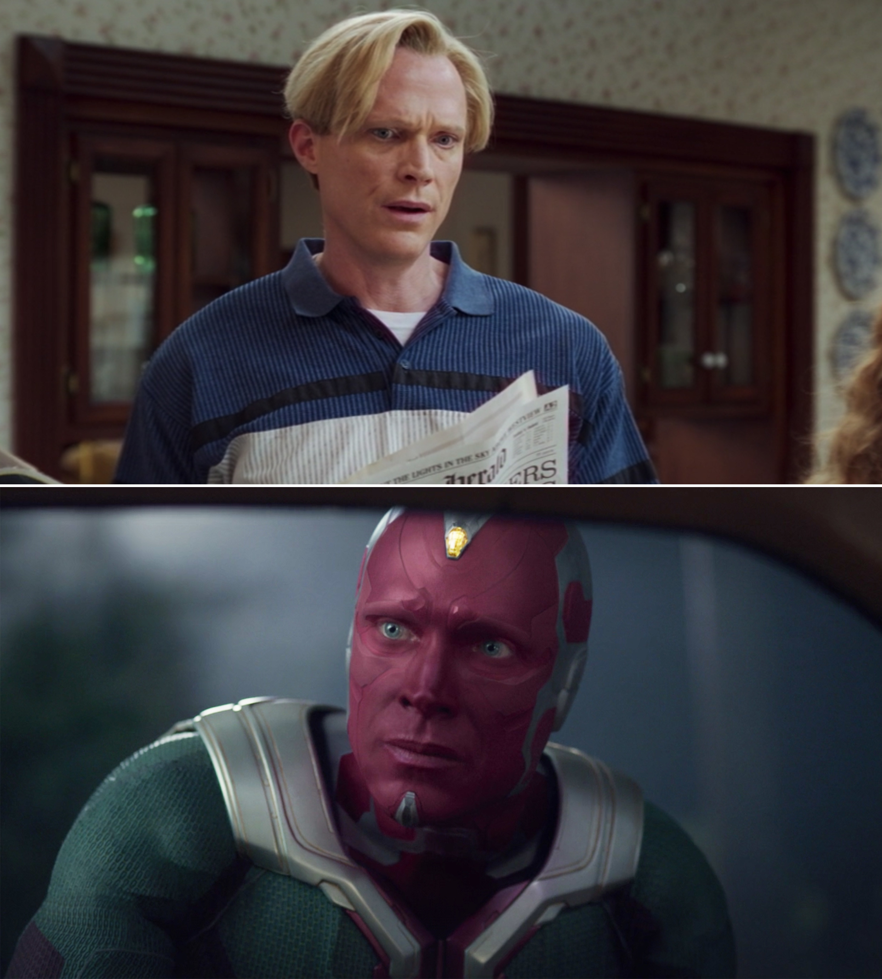 "Paul Bettany as Vision in ""WandaVision"" in Episode 5 and Episode 6"