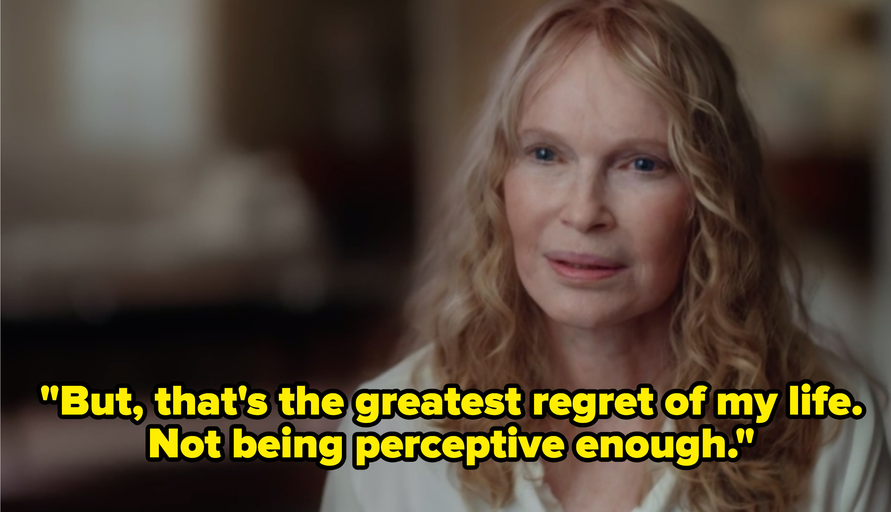 Mia Farrow taking about Woody Allen's inappropriate relationship with Dylan