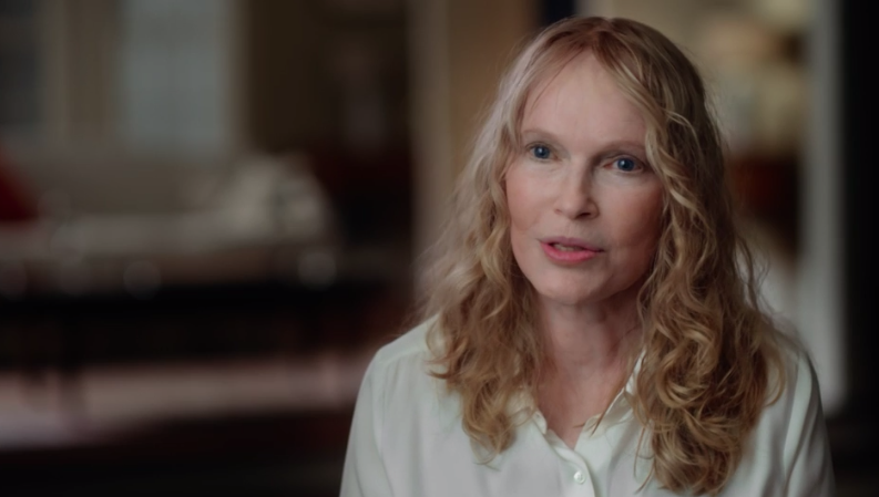 Mia Farrow talking about Woody Allen's inappropriate relationship with Dylan