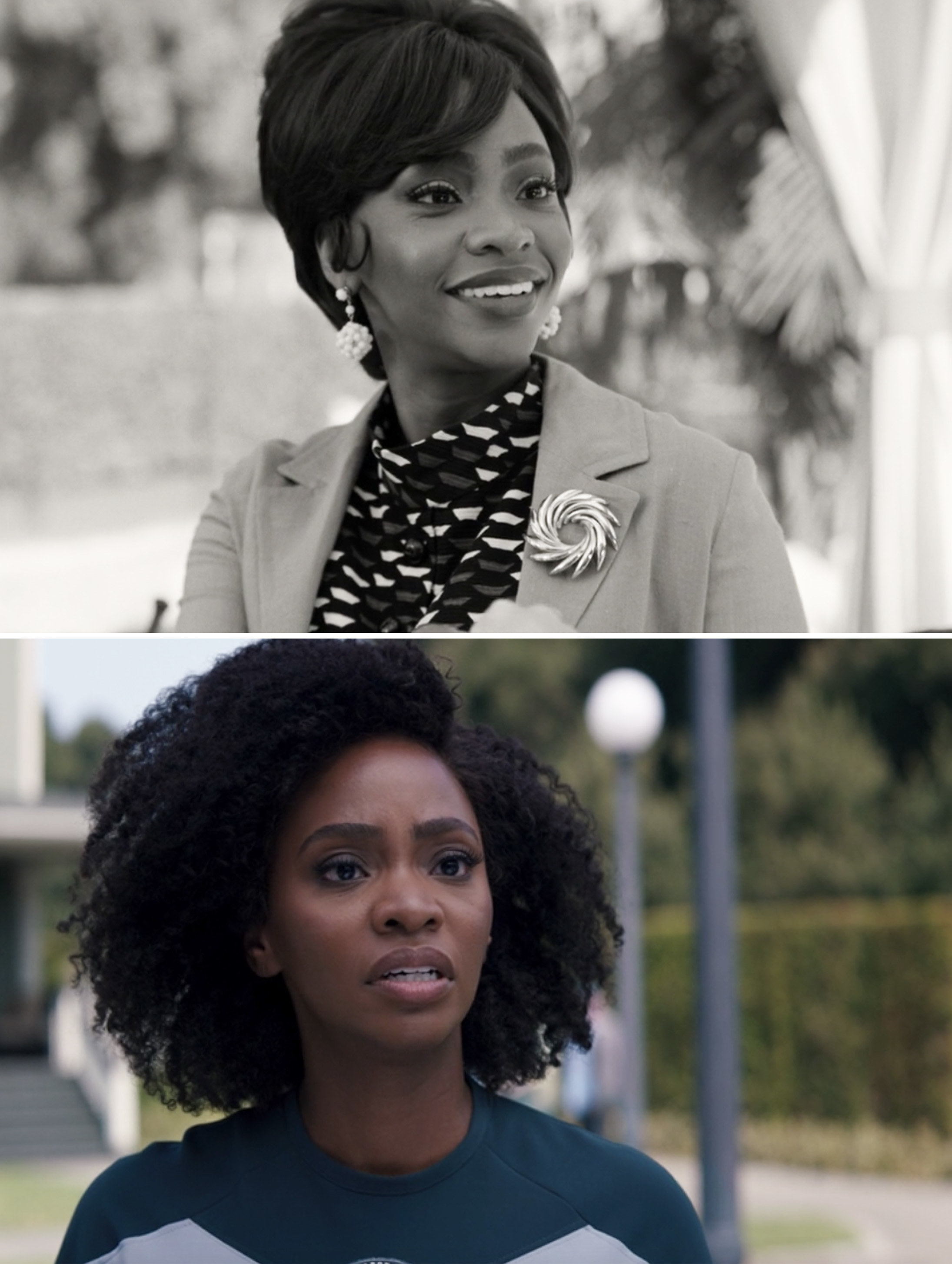 "Teyonah Parris as Geraldine in Episode 1 of ""WandaVision"" and as Monica in Episode 7"
