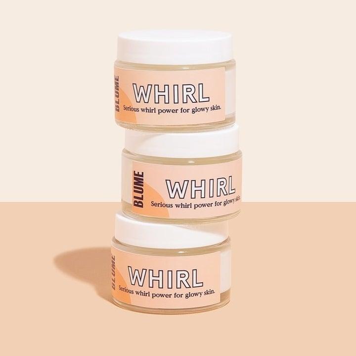 three jars of moisturizer