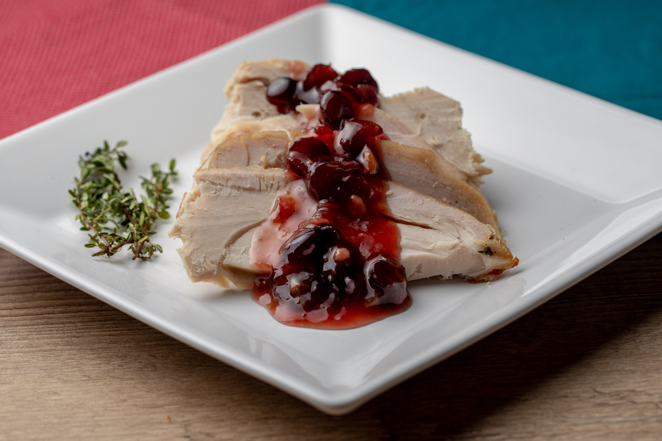 Turkey Breasts and Cranberry Sauce.