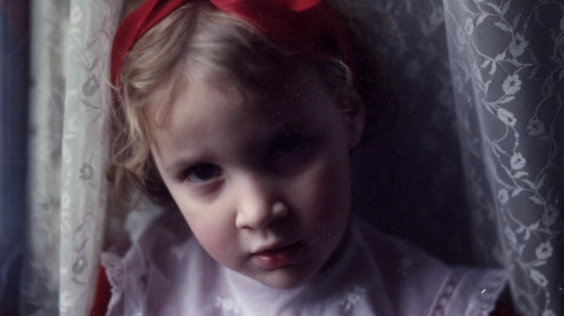 Archived family photo of a young Dylan Farrow