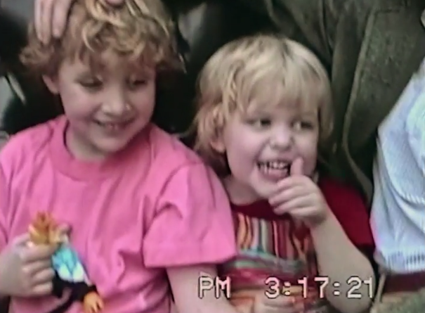 Archived family videos of Dylan and Ronan