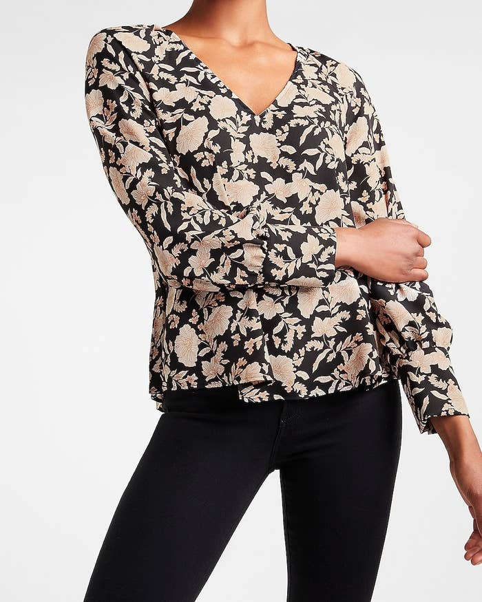 The long-sleeved top