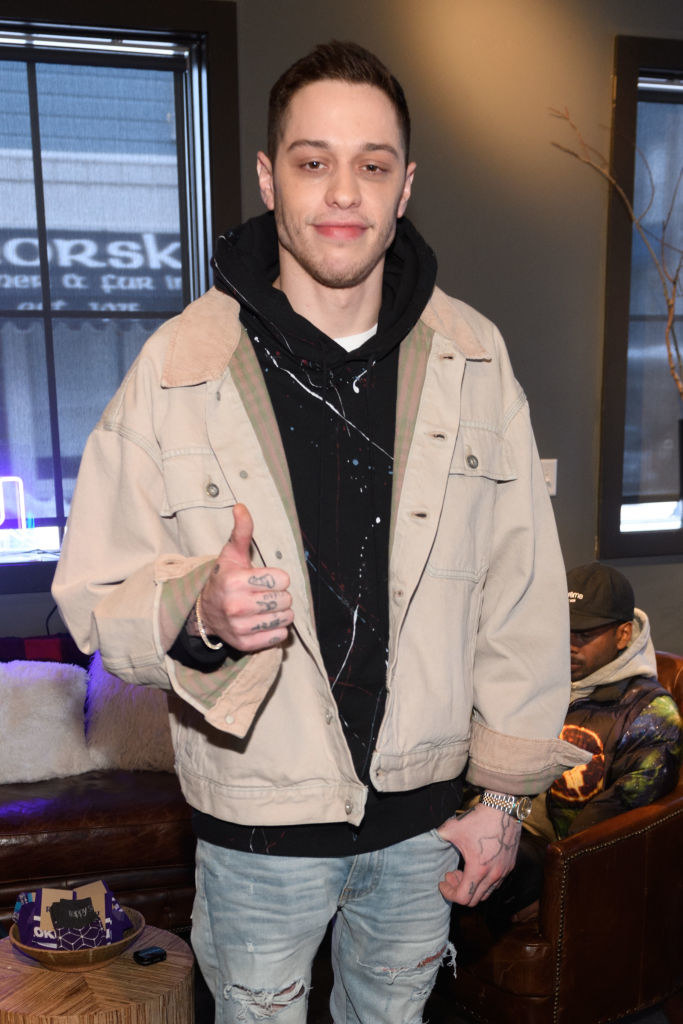 Pete Davidson gives a thumbs up at The Vulture Spot during Sundance Film Festival on January 28, 2019 in Park City, Utah