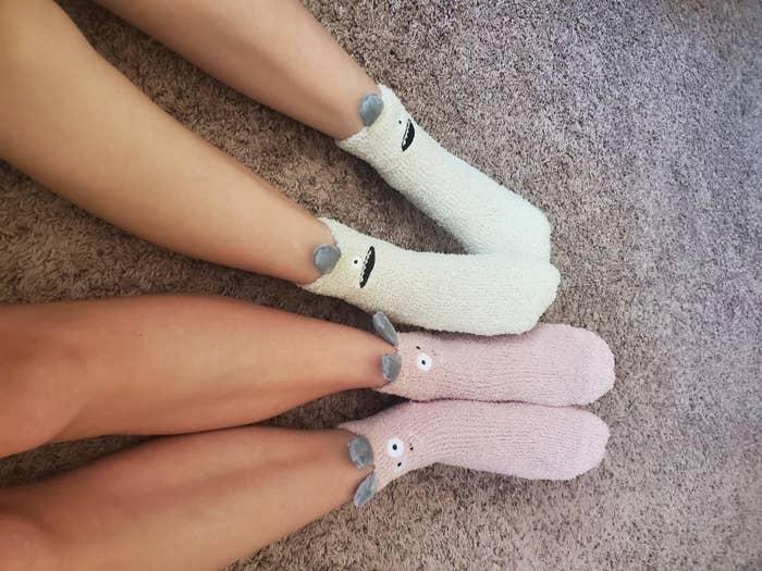 The critter designed cozy socks