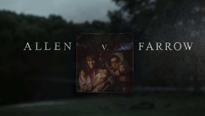 Title card for Allen v. Farrow