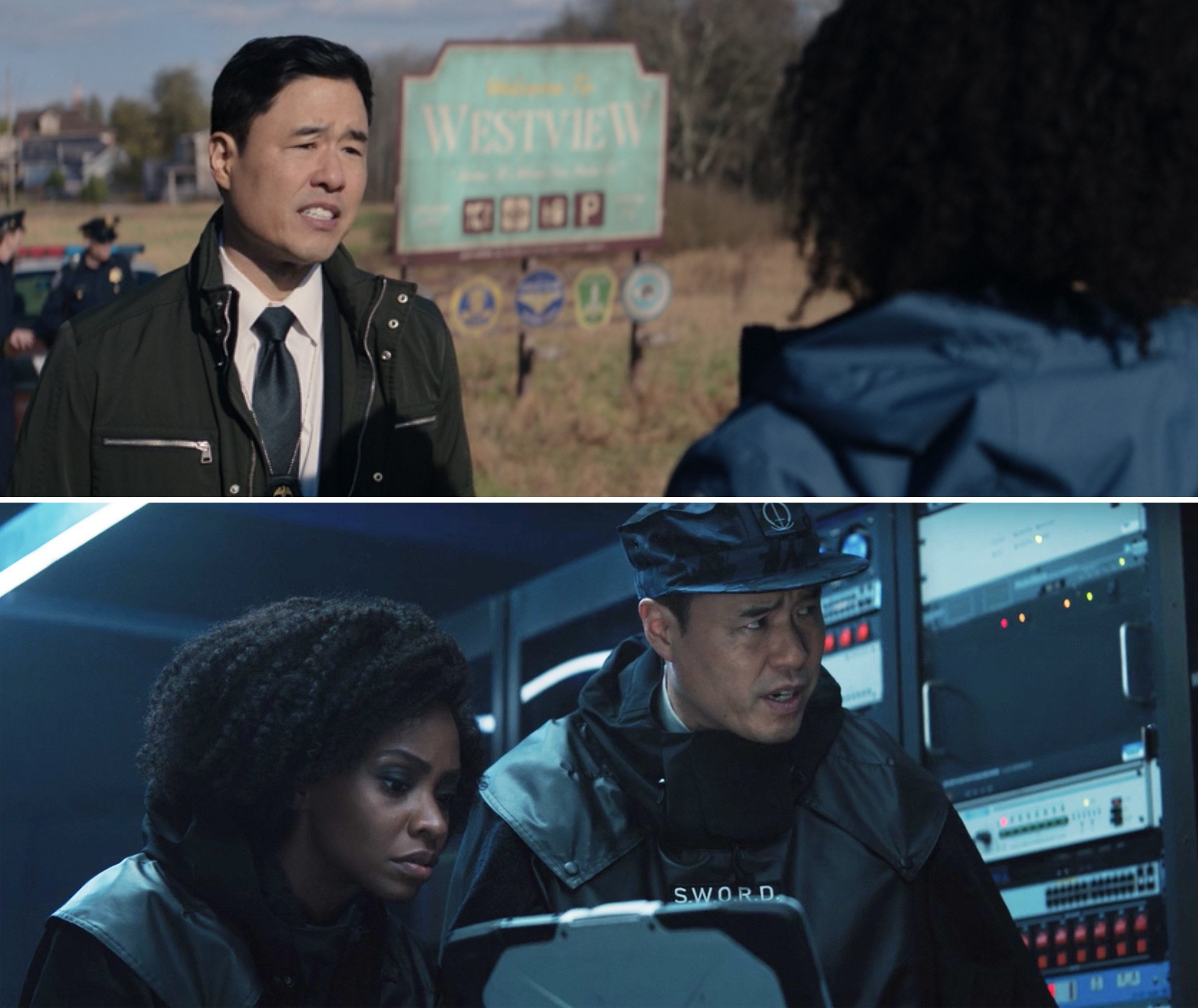 "Randall as Jimmy Woo in Episode 4 and Episode 6 of ""WandaVision"""