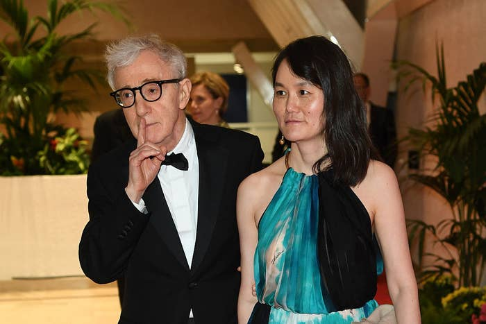 Woody Allen and Soon Yi Previn arrive at the Opening Gala Dinner during The 69th Annual Cannes Film Festival