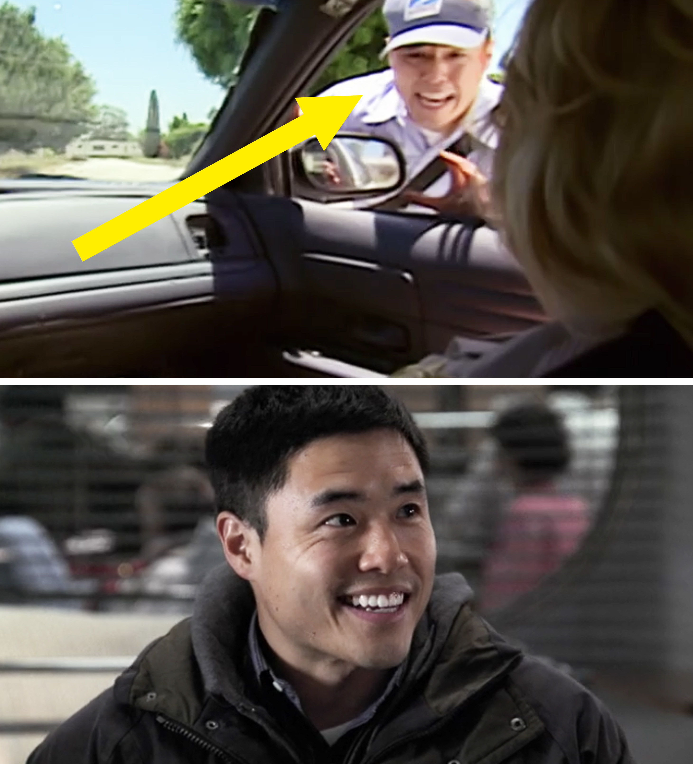 "Randall Park as a mailman on ""Reno 911"" and Randall on ""ER"""