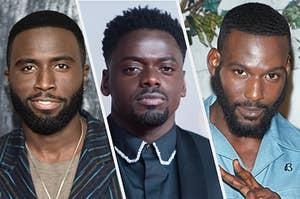 Y'lan Noel, Daniel Kaluuya, and Kofi Siriboe all pose in a split thumbnail