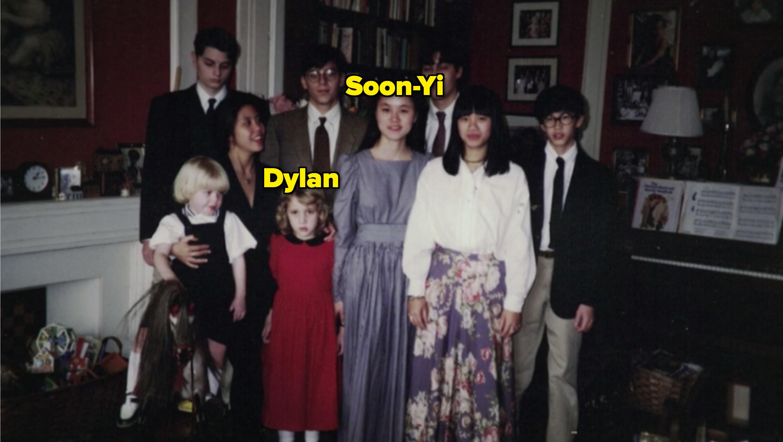Family portrait of Mia's children