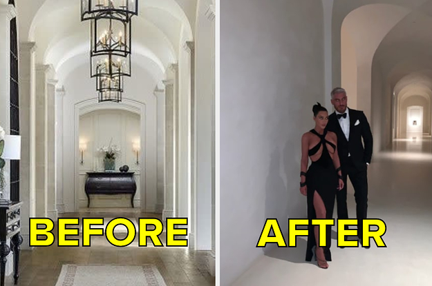 We Found Pictures Of Kim And Kanye's Mansion Before They Tu...Into A Nightmare House, And Boy, They Really Changed Things Up