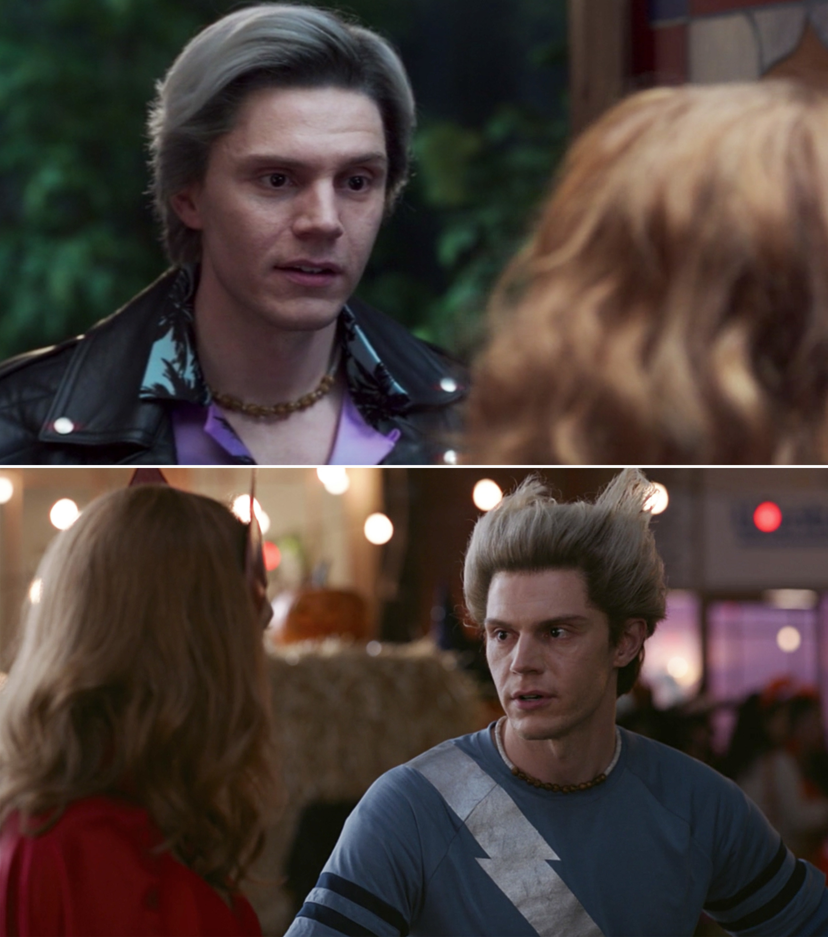 "Evan Peters as Pietro talking to Wanda in Episode 5 and Episode 6 of ""WandaVision"""