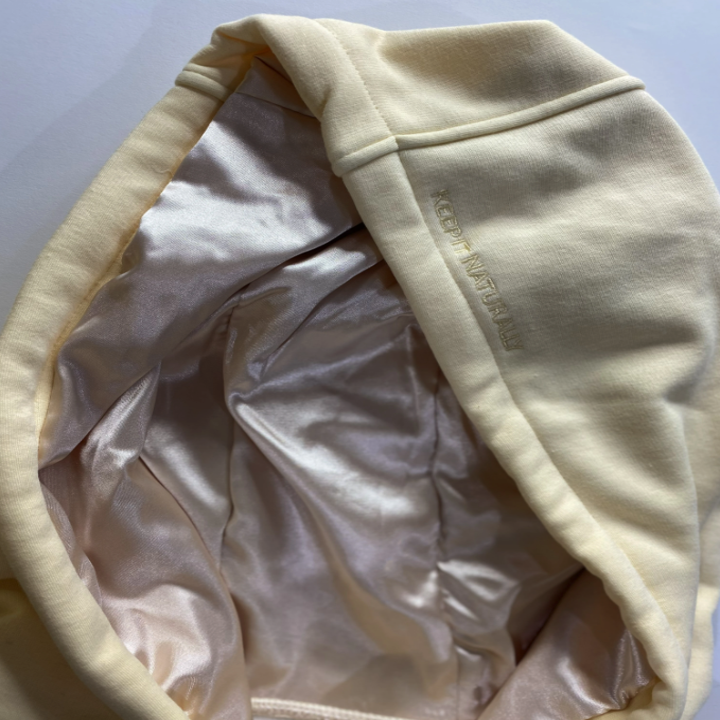 the satin-lined hood