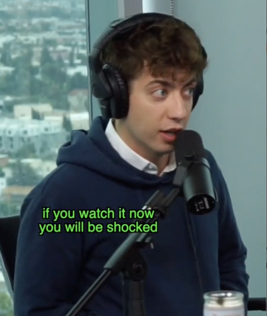 """Kevin saying, """"if you watch it now you will be shocked"""" in reference to the show"""