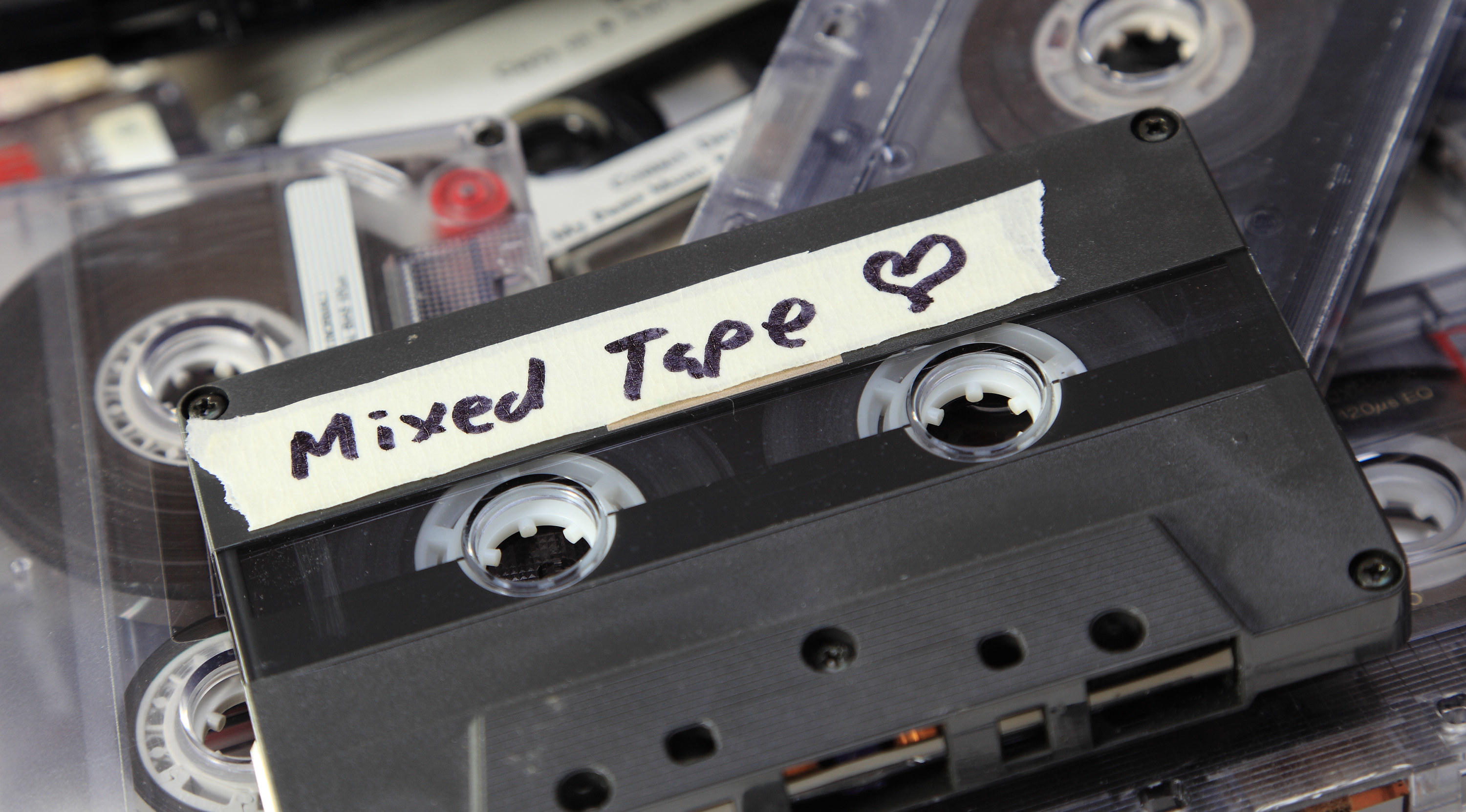 An old mixed tape found amongst a pile of audio cassettes.