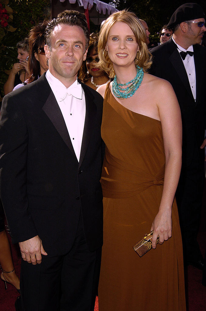 Cynthia Nixon and David Eigenberg on the red carpet of  The 56th Annual Primetime Emmy Awards